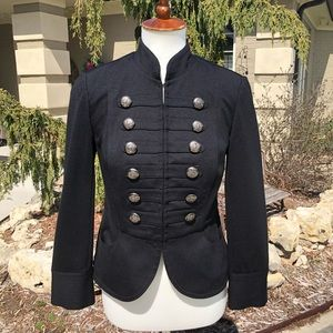 INC International Concepts military style blazer S